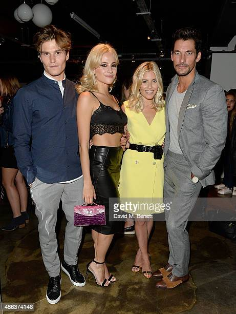 Oliver Cheshire Pixie Lott Molly King and David Gandy attend the Marks Spencer party to launch Oliver Cheshire as the Face of Autograph Menswear on...
