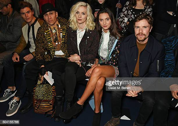 Oliver Cheshire Taboo Portia Freeman Matilda Lowther and Joe Dempsie attend the Coach FW16 show front row during London Collections Men at The...
