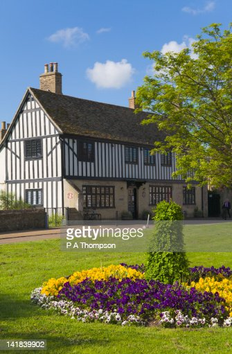 Oliver Cromwells House, Ely, Cambridgeshire, England : Stock Photo