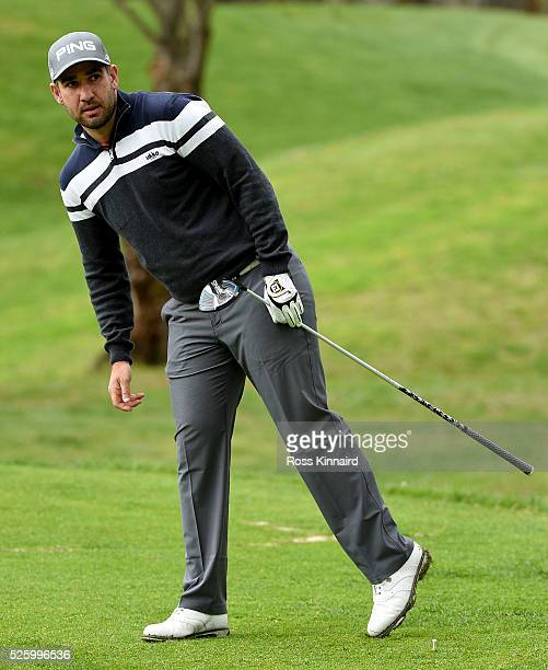 Oliver Farr of Wales during the first round of Challenge de Madrid at the Real Club de Golf La Herreria on April 28 2016 in Madrid