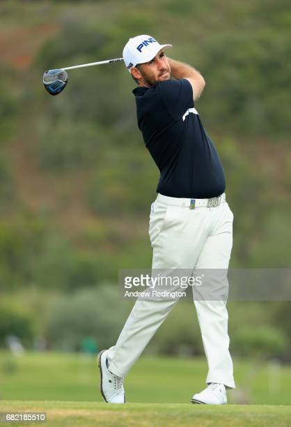 Oliver Farr of Wales tees off on the 9th hole during day two of the Open de Portugal at Morgado Golf Resort on May 12 2017 in Portimao Portugal