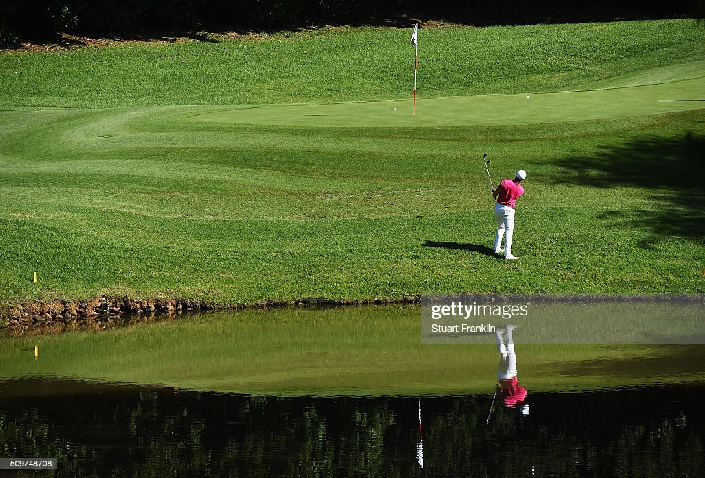 <a gi-track='captionPersonalityLinkClicked' href=/galleries/search?phrase=Oliver+Fisher&family=editorial&specificpeople=227218 ng-click='$event.stopPropagation()'>Oliver Fisher</a> of England plays a shot during the second round of the Tshwane Open at Pretoria Country Club on February 12, 2016 in Pretoria, South Africa.