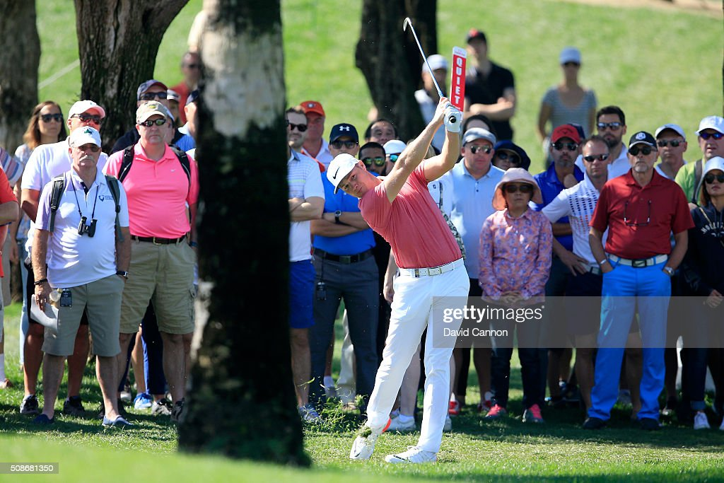 <a gi-track='captionPersonalityLinkClicked' href=/galleries/search?phrase=Oliver+Fisher&family=editorial&specificpeople=227218 ng-click='$event.stopPropagation()'>Oliver Fisher</a> of England plays his second shot at the par 4, first hole during the third round of the 2016 Omega Dubai Desert Classic on the Majlis Course at the Emirates Golf Club on February 6, 2016 in Dubai, United Arab Emirates.