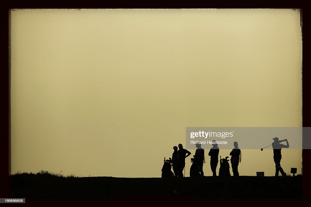 Oliver Fisher of England tee's off at the 18th during the first round of the Open de Espana at Parador de El Saler on April 18 2013 in Valencia Spain