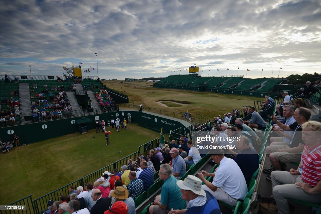 Oliver Fisher of England tees off on the 1st hole during the first round of the 142nd Open Championship at Muirfield on July 18, 2013 in Gullane, Scotland.