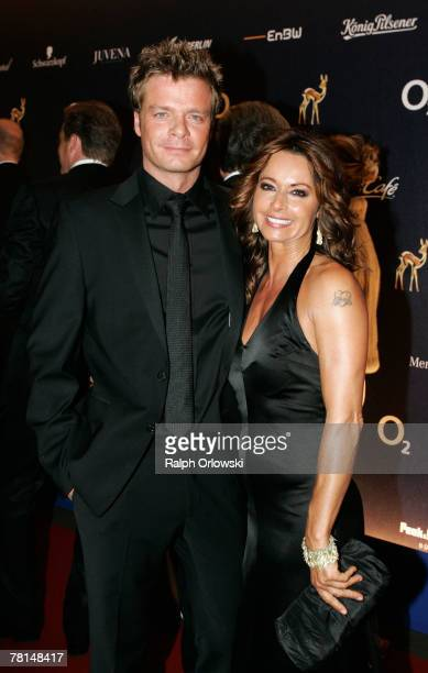 Oliver Geissen and Christina Plate attend the annual Bambi Awards 2007 on November 29 2007 in Duesseldorf Germany