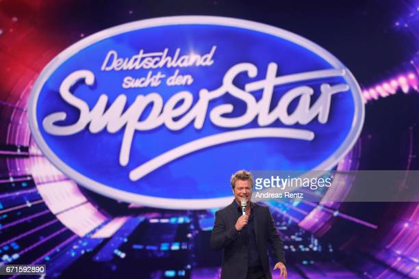 Oliver Geissen during the third event show of the tv competition 'Deutschland sucht den Superstar' at Coloneum on April 22 2017 in Cologne Germany...