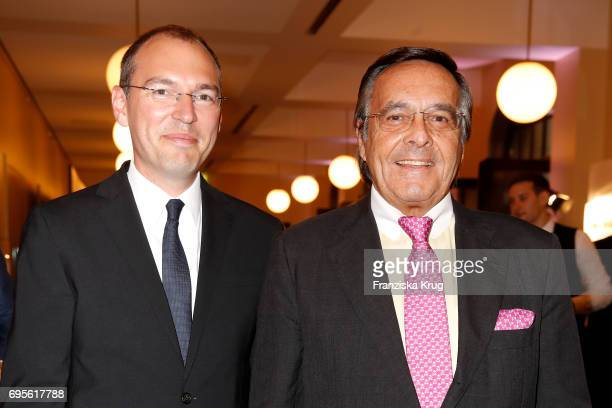 Oliver Goessler and Mario Ohoven attend the Montblanc De La Culture Arts Patronage Award 2017 at Humboldt Carre on June 13 2017 in Berlin Germany