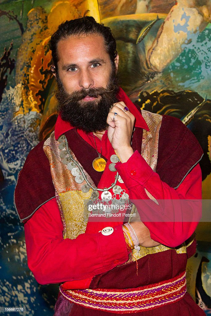 Oliver Halsman Rosenberg, grandson of late photographer Philippe Halsman, attends Dali Private Exhibition Preview at Centre Pompidou on November 18, 2012 in Paris, France.