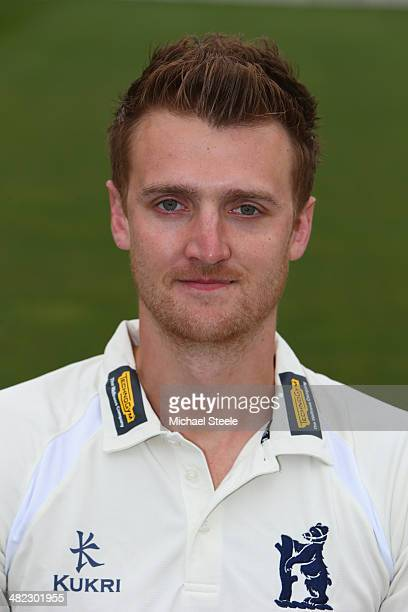 Oliver HannonDalby of Warwickshire poses in the LV County kit during the Warwickshire CCC photocall at Edgbaston on April 3 2014 in Birmingham England