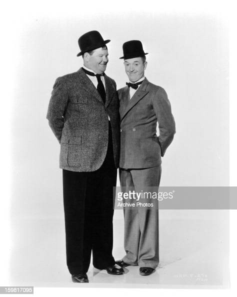Oliver Hardy and Stan Laurel circa 1932