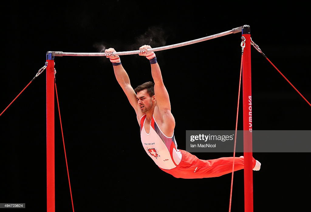 Oliver Hegi Of Switzerland Competes On The High Bar During Day Six World Artistic Gymnastics