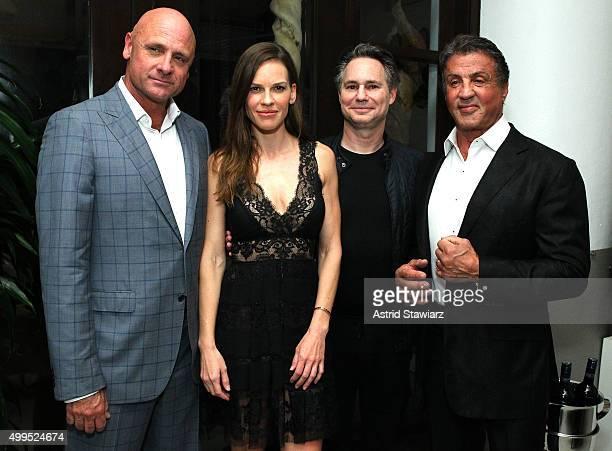 JP Oliver Hilary Swank Jason Binn and Sylvester Stallone attend DuJour Magazine's Jason Binn Celebrates Annual Art Basel Miami Beach KickOff Party...
