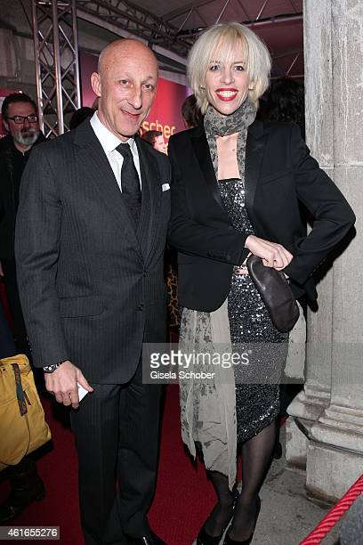 Oliver Hirschbiegel and Katja Eichinger during the Bavarian Film Award 2015 on January 16 2015 in Munich Germany