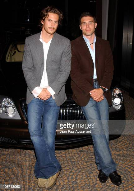 Oliver Hudson Anson Mount and the 2004 Maybach during Anne Hathaway Oliver Hudson and Anson Mount Host Fundraiser for Defense for Children...