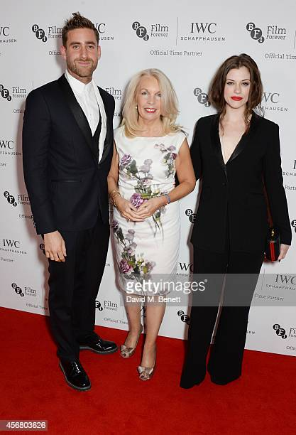 Oliver Jackson Cohen Amanda Nevill CEO of the BFI and Jessica de Gouw attend the BFI London Film Festival IWC Gala Dinner in honour of the BFI at...