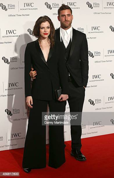 Oliver Jackson Cohen and Jessica de Gouw attends the IWC Gala dinner in honour of the BFI at Battersea Evolution on October 7 2014 in London England