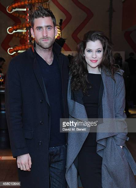 Oliver JacksonCohen and Jessica De Gouw attend the UK Premiere of 'Set Fire To The Stars' at The Ham Yard Hotel on October 28 2014 in London England