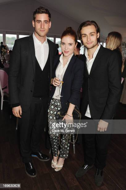 Oliver JacksonCohen Angela Scanlon and Douglas Booth attend at the Audi Royal Polo Challenge 2013 at Chester Racecourse on May 29 2013 in Chester...