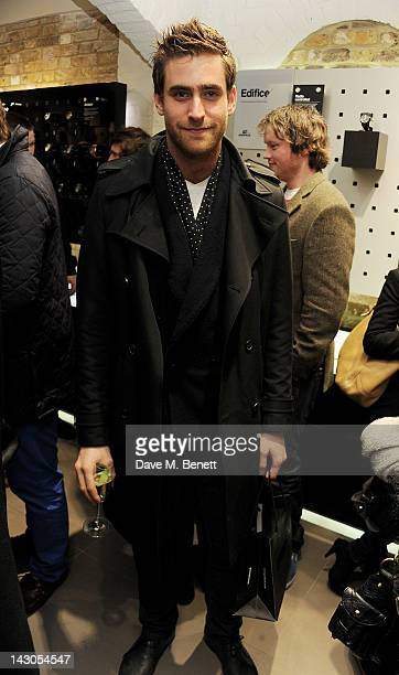 Oliver JacksonCohen attend the launch of Casio London's Global Concept Store in Covent Garden Piazza on April 18 2012 in London England