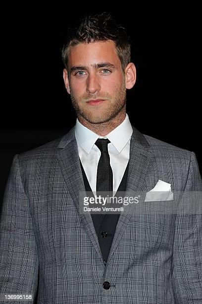 Oliver JacksonCohen attends Dolce Gabbana fashion show as part of Milan Fashion Week Menswear Autumn/Winter 2012 at Metropol on January 14 2012 in...