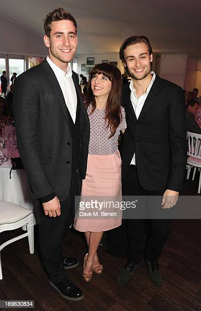 Oliver JacksonCohen Ophelia Lovibond and Douglas Booth attend at the Audi Royal Polo Challenge 2013 at Chester Racecourse on May 29 2013 in Chester...