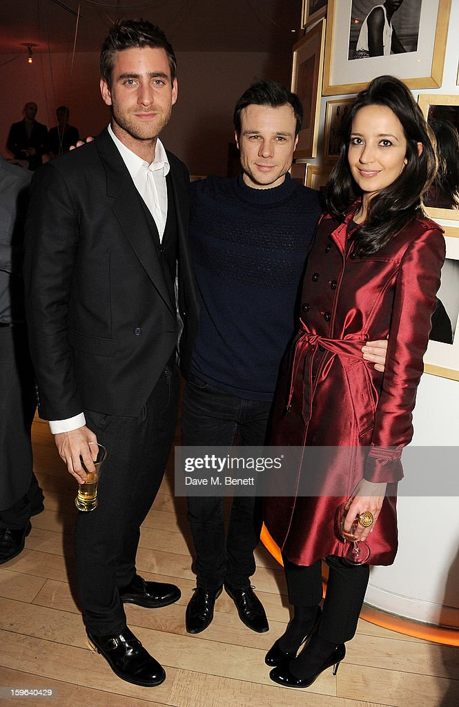 (L to R) Oliver Jackson-Cohen, Rupert Evans and Olivia Bennett attend an after party celebrating the Red Carpet Premiere of the Netflix original series 'House of Cards' at Asia de Cuba, St Martins Lane Hotel, on January 17, 2013 in London, England.