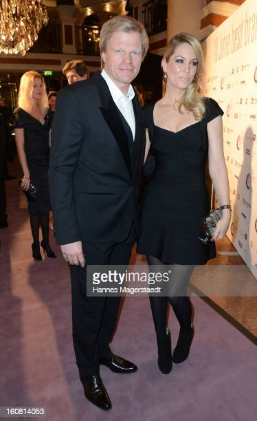 Oliver Kahn and his wife Svenja attend the Best Brands 2013 Gala at Bayerischer Hof on February 6 2013 in Munich Germany