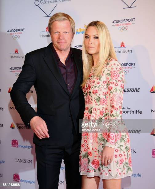Oliver Kahn and his wife Svenja attend the German Sports Journalism Award 2017 at Grand Elysee Hotel on April 03 2017 in Hamburg Germany