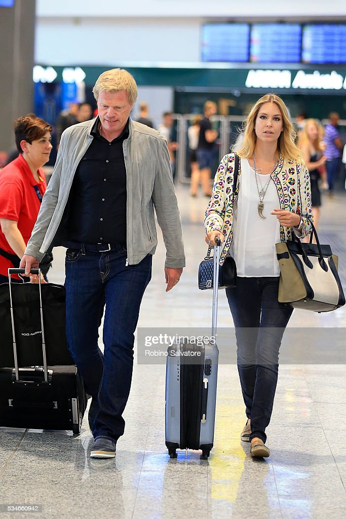 Oliver Kahn and Svenja Kahn seen on May 27, 2016 in Milan, Italy.