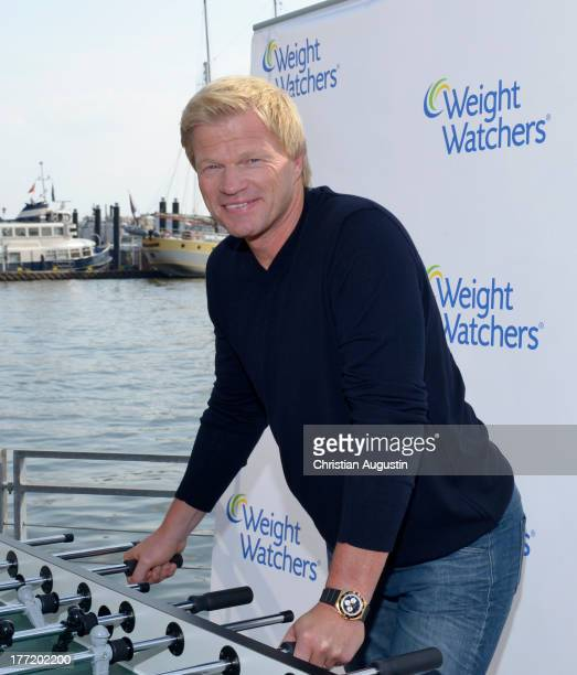 Oliver Kahn attends Weight Watchers photocall at Floating Homes on August 22 2013 in Hamburg Germany