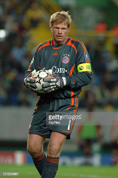 Oliver Kahn during a UEFA Champions League match between Bayern Munich and Sporting Lisbon at Jose Alvalade Stadium in Lisbon Portugal on October 18...