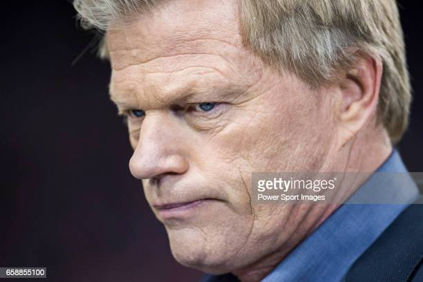 Oliver Kahn former German football goalkeeper prior to the 201617 UEFA Champions League Round of 16 second leg match between Atletico de Madrid and...