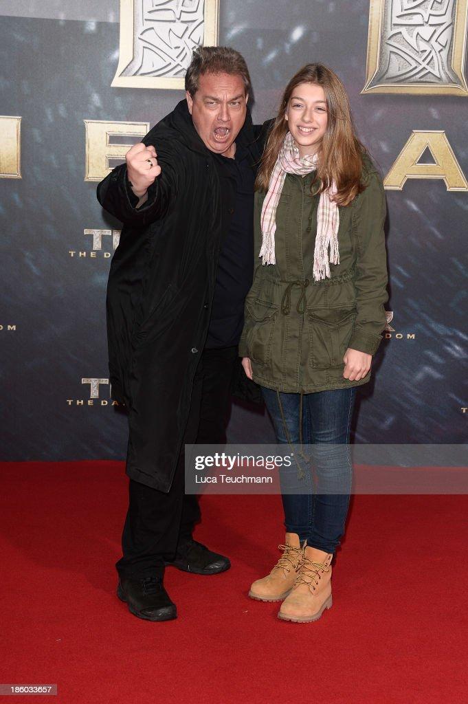 Oliver Kalkofe and daughter arrive for