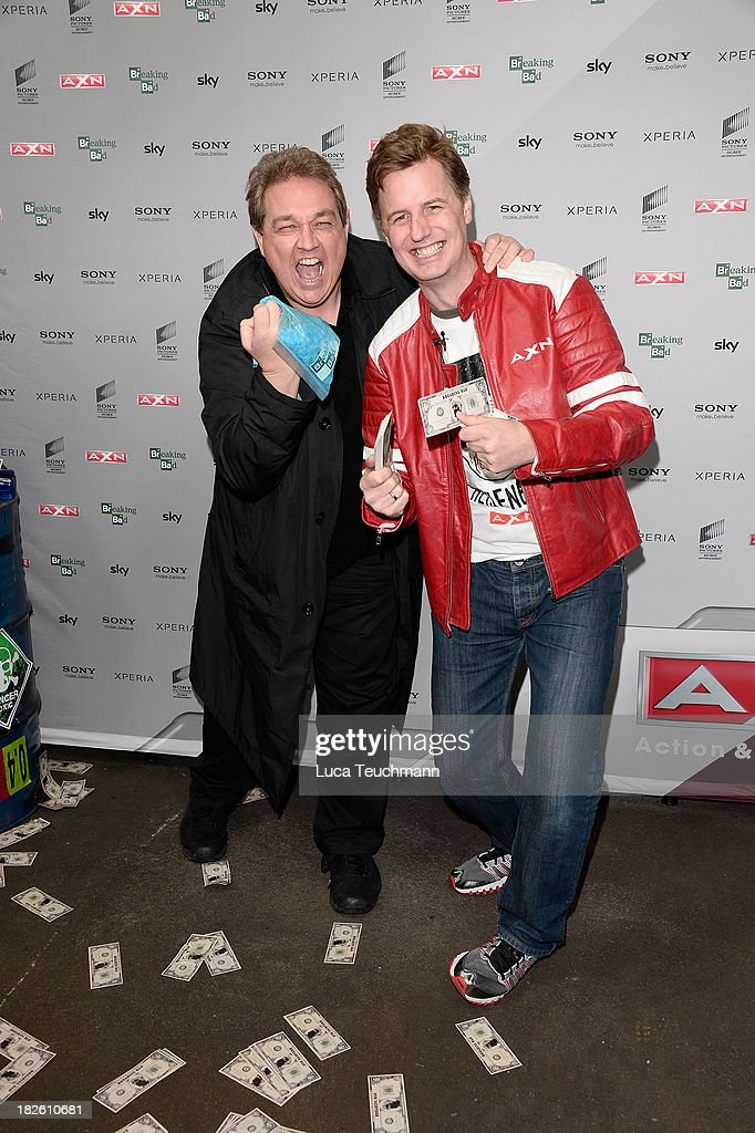 Oliver Kalkofe and Florian Simbeck attend the 'Breaking Bad' Screening Party at the Cosy-Wash on October 1, 2013 in Berlin, Germany.