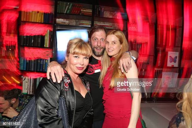 MUNICH GERMANY JUNE 26 Oliver Korittke and his girlfriend Mirijam Verena Jeremic during the Movie meets Media Party during the Munich Film Festival...