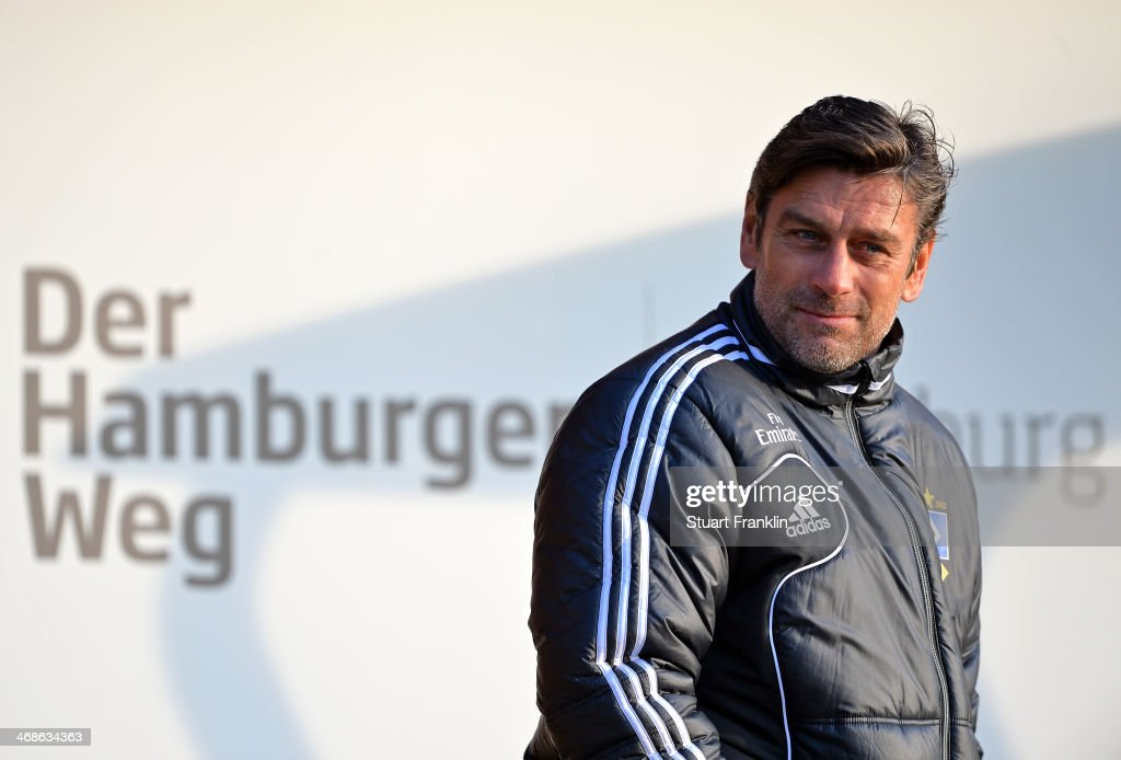 Oliver Kreuzer, sports director of Hamburger SV looks on during the training session of Hamburger SV on February 11, 2014 in Hamburg, Germany.