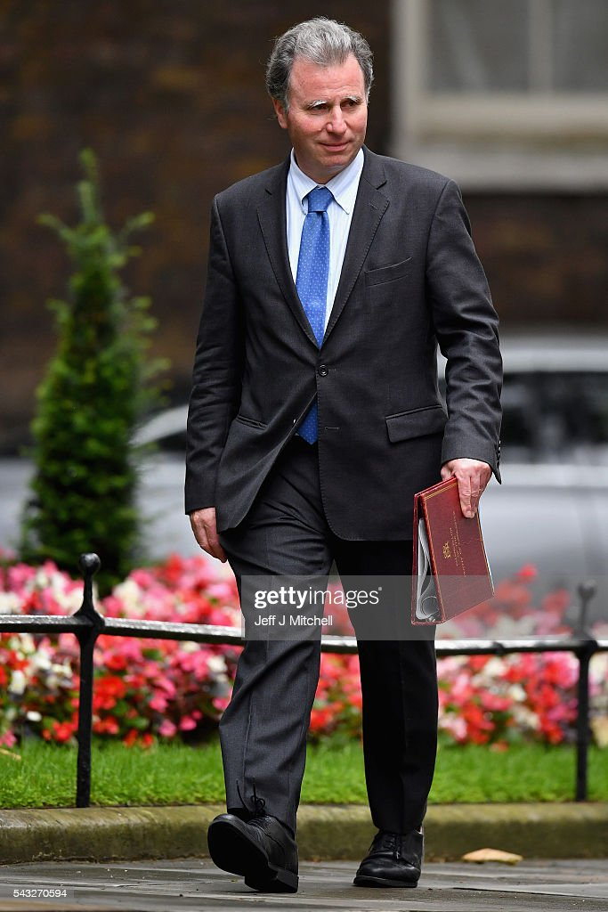 <a gi-track='captionPersonalityLinkClicked' href=/galleries/search?phrase=Oliver+Letwin&family=editorial&specificpeople=214708 ng-click='$event.stopPropagation()'>Oliver Letwin</a>, Chancellor of the Duchy of Lancaster arrives for a cabinet meeting at Downing Street on June 27, 2016 in London, England. British Prime Minister David Cameron is due to chair an emergency Cabinet meeting this morning, after Britain voted to leave the European Union. Chancellor George Osborne spoke at a press conference ahead of the start of financial trading and outlining how the Government will 'protect the national interest' after the UK voted to leave the EU.