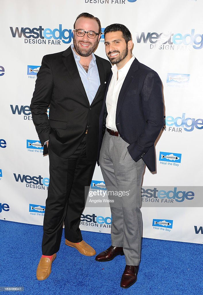 Oliver M. Furth and Sean Yashar attend the WestEdge Design Fair opening night benefiting Heal the Bay at Barker Hangar on October 3, 2013 in Santa Monica, California.