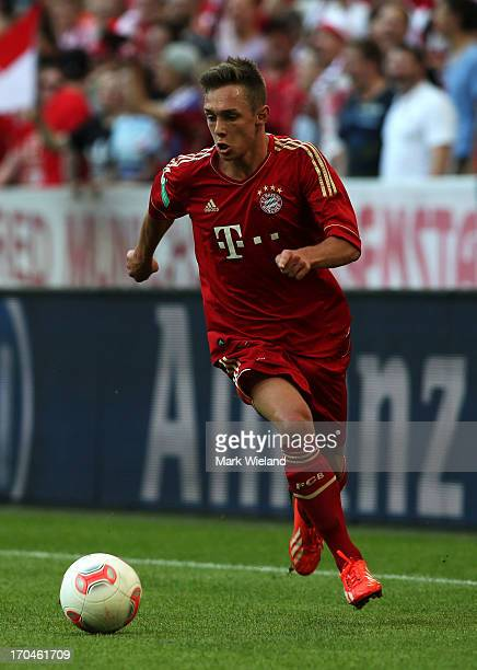 Oliver Markoutz of FC Bayern Muenchen U19 in action during the A Juniors championship first leg match between FC Bayern Muenchen and Hansa Rostock...