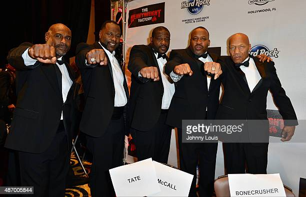 Oliver McCall Tony Tucker Riddick Bowe Tim Witherspoon and Pinklon Thomas attends Former World Heavyweight Champions Official WeighIn and Media day...