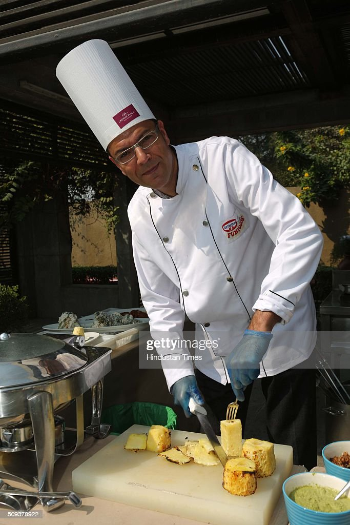 Oliver MIrza, MD and CEO, Dr OETKER India Pvt Ltd, during the 12th edition of Genesis Foundation's fund raiser, 'CEOs Cook For GF Kids' to support better life for underprivileged kids, top corporate honchos got together to raise funds through a charity cooking session, on February 6, 2016 in Gurgaon, India. The attendees booked tables and sampled the delicious fare served by the CEO-turned-chefs.