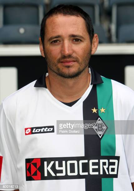 Oliver Neuville poses during the Bundesliga team presentation of Borussia Moenchengladbach on July 21 2008 in Moenchengladbach Germany