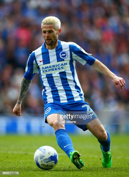 Oliver Norwood of Brighton Hove Albion in action during the Sky Bet Championship match between Brighton Hove Albion and Wigan Athletic at Amex...