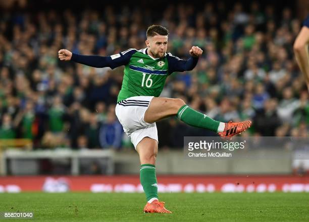 Oliver Norwood of Northern Ireland during the FIFA 2018 World Cup Qualifier between Northern Ireland and Germany at Windsor Park on October 5 2017 in...