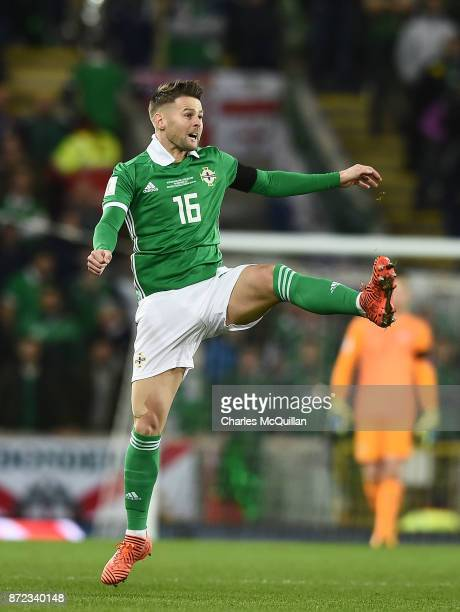Oliver Norwood of Northern Ireland during the FIFA 2018 World Cup Qualifier PlayOff first leg between Northern Ireland and Switzerland at Windsor...