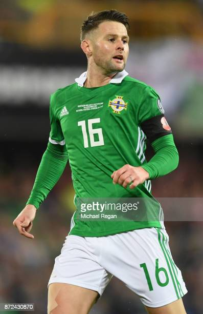 Oliver Norwood of Northern Ireland in action during the FIFA 2018 World Cup Qualifier PlayOff First Leg between Northern Ireland and Switzerland at...