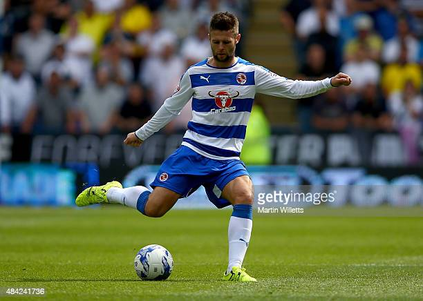 Oliver Norwood of Reading during the Sky Bet Championship match between Reading and Leeds United at Madejski Stadium on August 16 2015 in Reading...