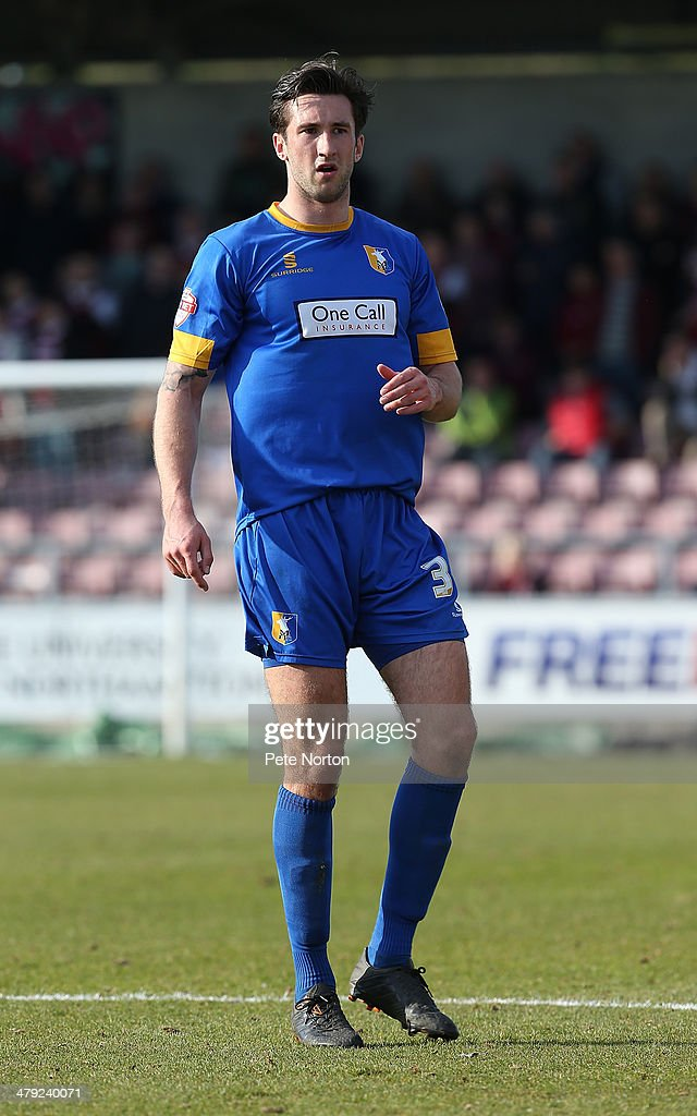 Oliver Palmer of Mansfield Town in action during the Sky Bet League Two match between Northampton Town and Mansfield Town at Sixfields on March 15, 2014 in Northampton, England.