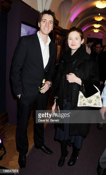 Oliver Phelps and Bonnie Wright attend the London Evening Standard British Film Awards 2012 at the London Film Museum on February 6 2012 in London...